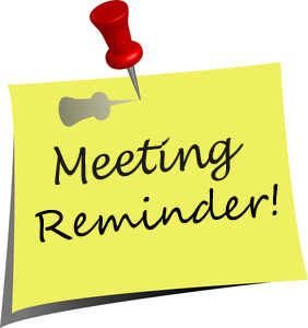 January Meeting Reminder